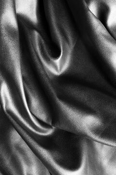 Black draped leather