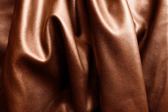 Draped leather background