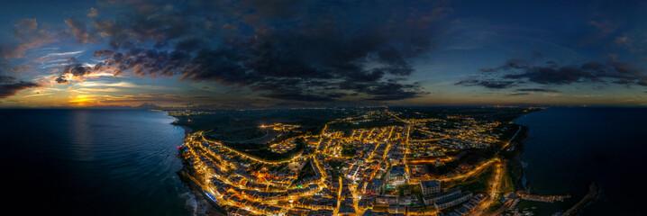 Fototapeta 360° vr night airpano selinunte italy sicily obraz