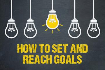 Obraz how to set and reach goals - fototapety do salonu