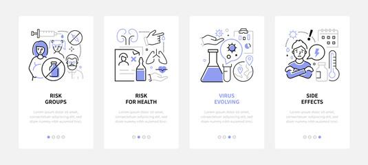 Fototapeta Vaccination - modern line design style banners set obraz