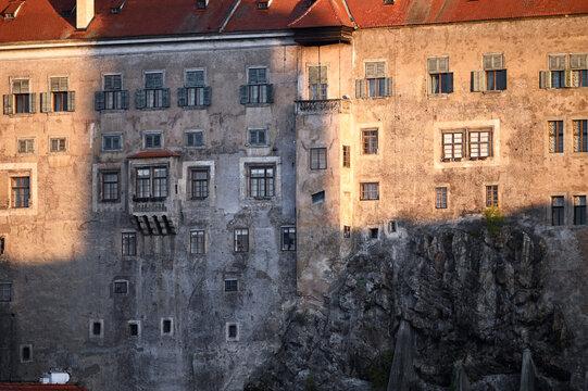 Castle of Cesky Krumlov in morning Czech republic