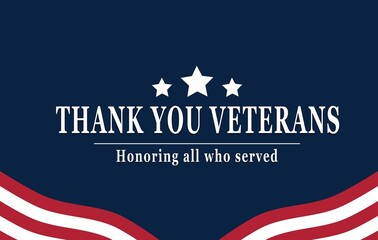 Obraz Happy Veterans Day with American flag  - fototapety do salonu
