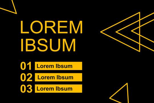 Werbefläche in schwarz und gelb