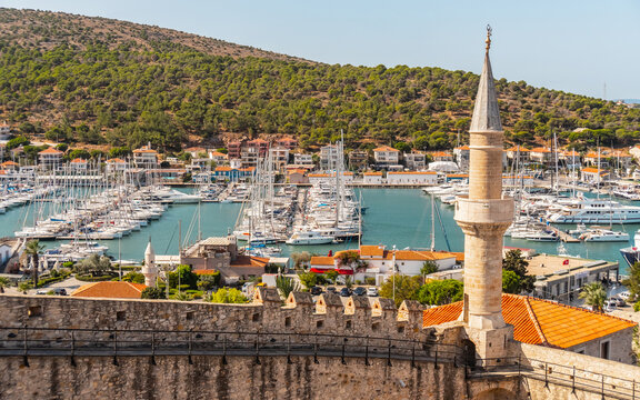 Cityscape of Cesme. Small town in western Turkey
