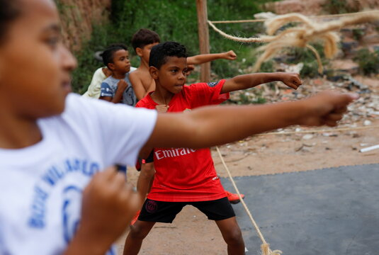 Dreaming of rings and medals: Boxing helps children in Sao Paulo favela