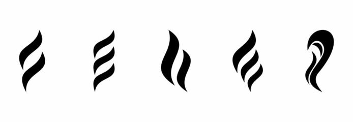 Fototapeta aroma icon set, aroma vector set obraz