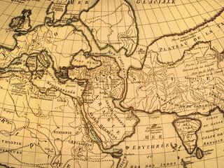 アンティークの古地図 中東地域