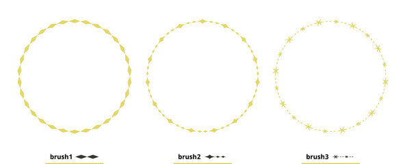 Fototapeta 円形、丸型のフレーム、ラベル、背景素材のイラストセット カラーバージョン obraz