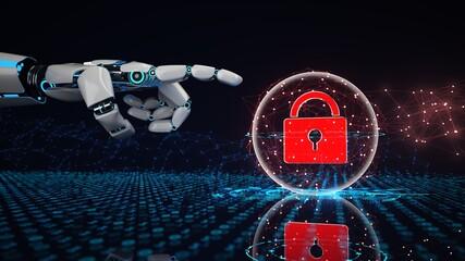 Fototapeta AI Online Security obraz