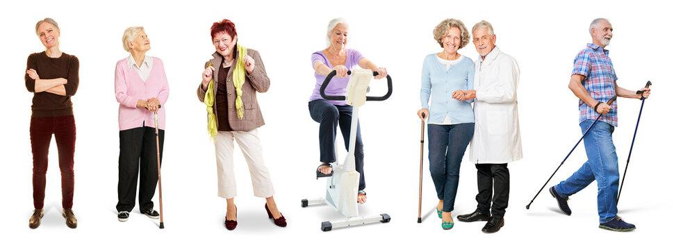 Menschen im Alter als Konzept für Gesundheit und Senioren