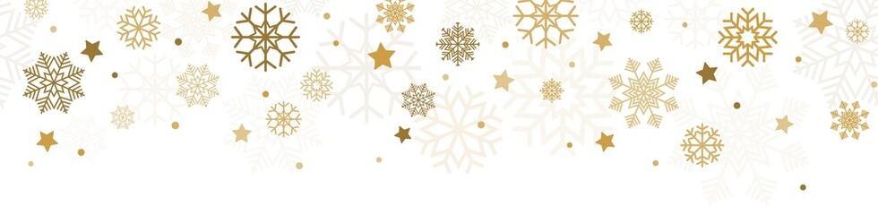 Obraz seamless falling snow flake background - fototapety do salonu