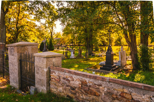 Old Catholic cemetery, located in Poland.