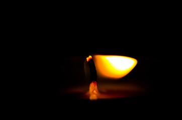Fototapeta candle in the dark obraz