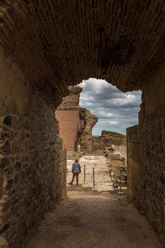 Roman theatre of Medellin, Extremadura, Spain