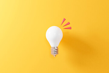 Fototapeta シンプルな電球のモックアップ。3Dレンダリング。イラストレーション。 obraz