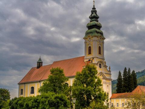 Engelszell Abbey (Stift Engelszell), the only Trappist monastery in Austria, founded in 1293, Engelhartszell an der Donau, in the Innviertel in Upper Austria.