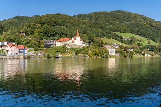 Cruising and cycling the Danube river betqeen Passau Germany and Vienna, Austria
