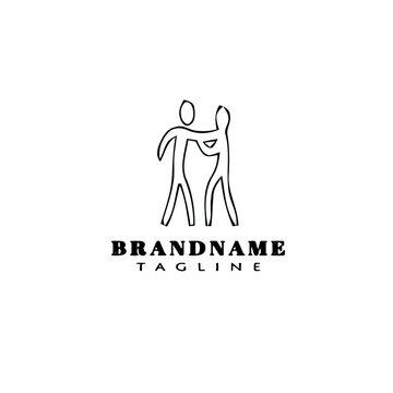 bullying logo cartoon icon design black isolated vector illustration