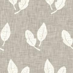 Fototapeta Hand drawn grey flower motif linen texture. Whimsical garden seamless pattern. Modern spring doodle floral nature textile for home decor. Botanical scandi style rustic eco ecru all over print obraz
