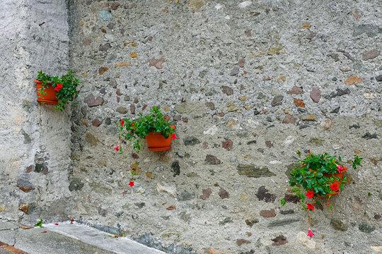 Architectural detail in Primiero di San Martino di Castrozza, Trentino province in Italy, Europe
