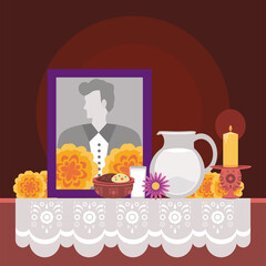 Obraz day of the dead altar - fototapety do salonu