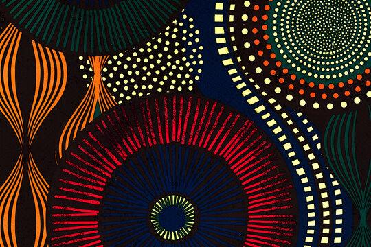 Illustration : arrière plan dessin motifs africains