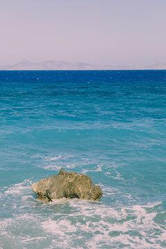Islands Ocean View on rock. Summer textures.