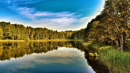 Fototapeta Krajobraz spokojnego jeziora
