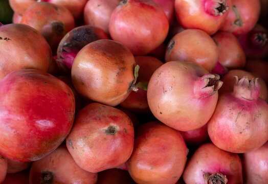 Pomegranates for sale at the city farmers market