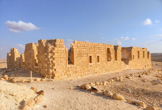 Remains of Abandoned Nabateans city Nitzana at Negev desert