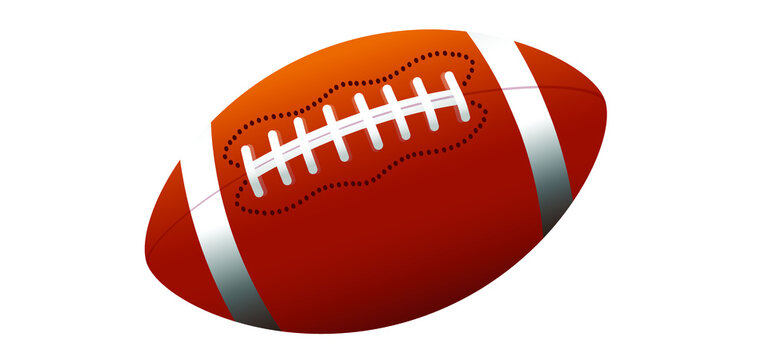 American football. Sport team game cup. Rugby ball day. For super bowl weekend party. USA symbol, Sport finale, school or work games on street. Vector football pictogram or sign.