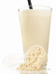 Fototapeta Protein Milkshake isolated on white Background obraz