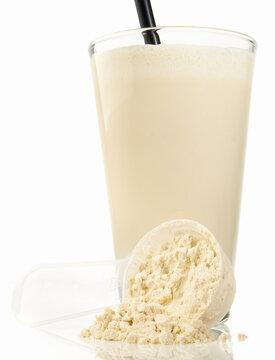 Protein Milkshake isolated on white Background