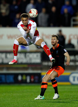 Rotherham's Carlton Morris in action with Sheffield Wednesday's Jack Hunt