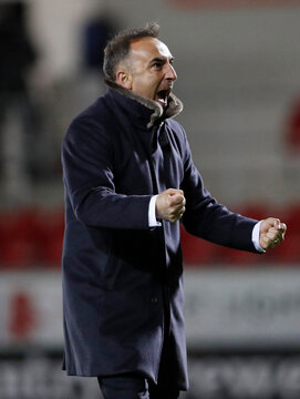 Sheffield Wednesday manager Carlos Carvalhal  celebrates after the match