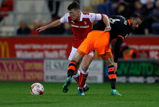 Rotherham Richie Smallwood in action with Sheffield Wednesdays' Steven Fletcher