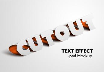 Obraz Cutout Text Effect Mockup - fototapety do salonu