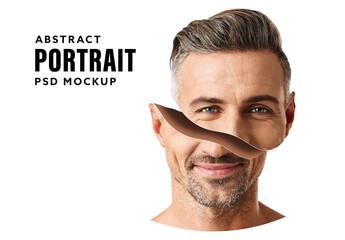 Obraz Split Portrait Mockup - fototapety do salonu