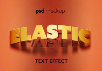 Obraz Text Effect Mockup - fototapety do salonu