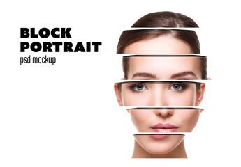 Obraz Block Portrait Mockup - fototapety do salonu