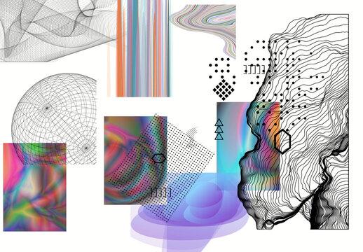 Modern Gothic Design Elements Illustration Set