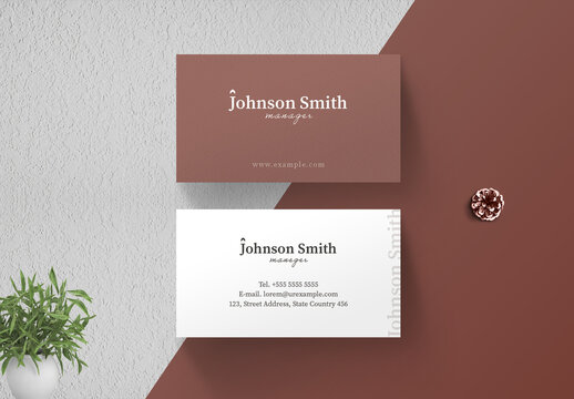 Clean Business Card Layout