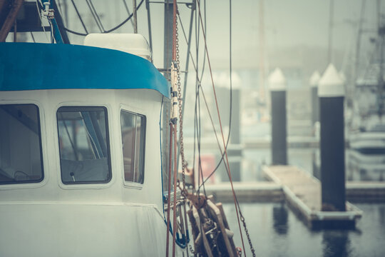 Commercial Fishing Boat Close Up