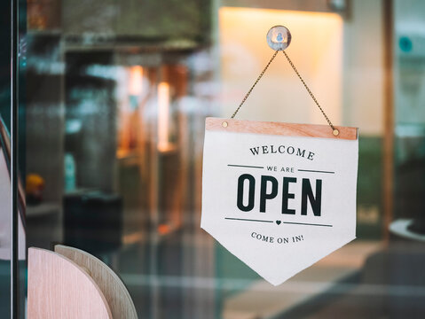 Open sign Door entrance Business retail Front shop signage