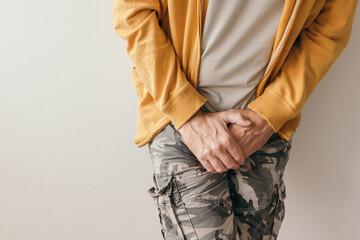 Obraz Prostatitis, aching lower abdomen pain symptoms - fototapety do salonu