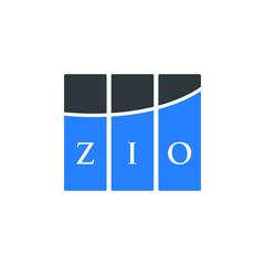 Fototapeta ZIO letter logo design on white background. ZIO creative initials letter logo concept. ZIO letter design.  obraz