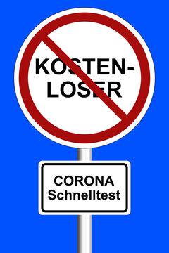 Kostenloser Corona Schnelltest Ende