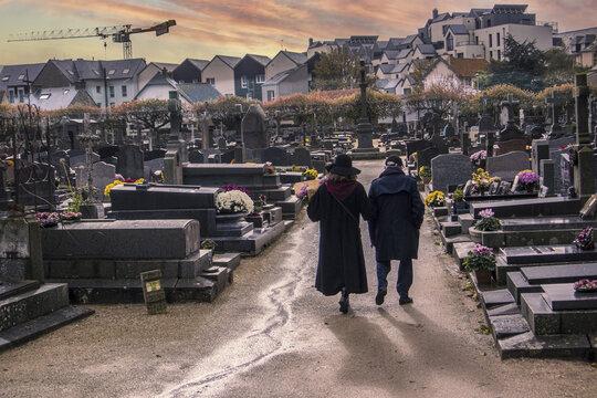 La visite au cimetière