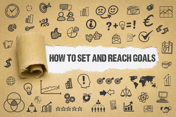 Obraz how to set and reach your goals  - fototapety do salonu